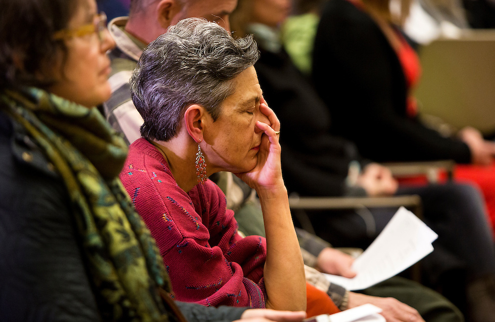 MADISON, WI – DECEMBER 19: An observer holds her face in discomfort as the Wisconsin Presidential Electors cast their ballots for Donald J. Trump in the Wisconsin State Capitol on Monday, December 19, 2016.
