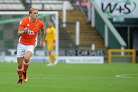 Blackpool's Brad Potts in action during todays match <br /> <br /> Photographer Ian Cook/CameraSport<br /> <br /> The EFL Sky Bet League Two - Yeovil Town v Blackpool  - Saturday 3 September 2016 - Huish Park - Yeovil<br /> <br /> World Copyright © 2016 CameraSport. All rights reserved. 43 Linden Ave. Countesthorpe. Leicester. England. LE8 5PG - Tel: +44 (0) 116 277 4147 - admin@camerasport.com - www.camerasport.com