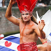 NLD/Amsterdam/20080802 - Canal Parade 2008 Amsterdam, Friesland boot