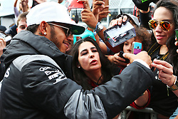 Lewis Hamilton (GBR) Mercedes AMG F1 with fans.<br /> 27.10.2016. Formula 1 World Championship, Rd 19, Mexican Grand Prix, Mexico City, Mexico, Preparation Day.<br />  <br /> / 271016 / action press