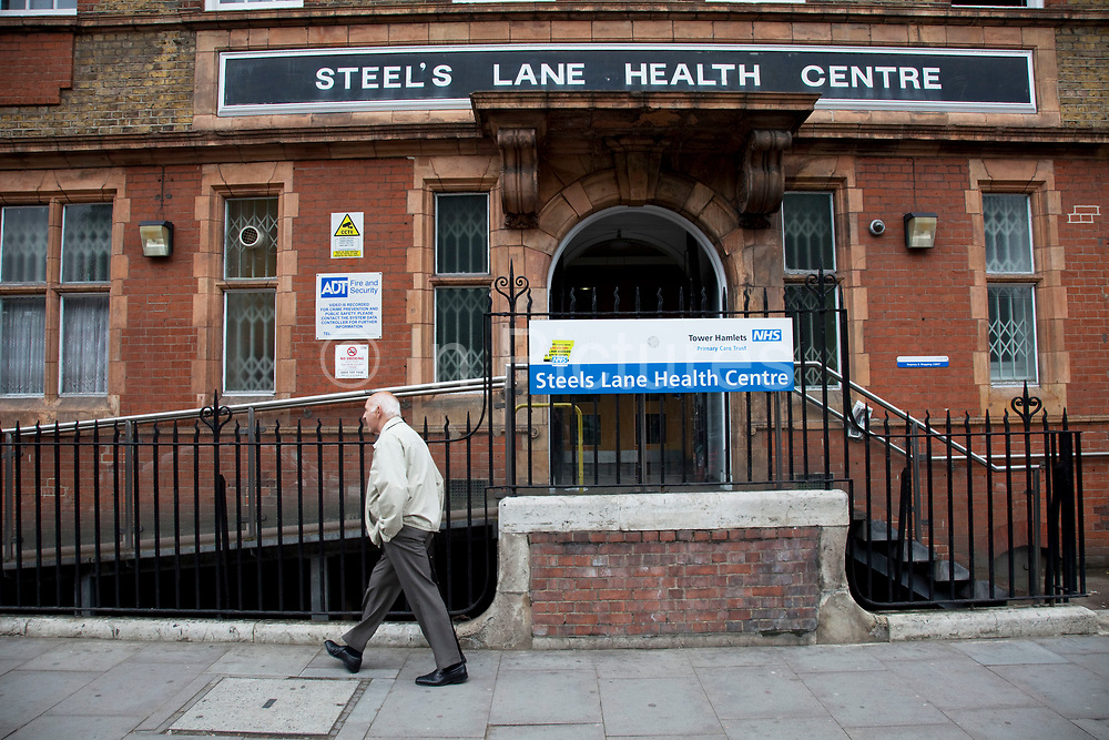 Steel's Lane Heath Centre in Mile End, East London. This is an NHS run clinic in the borough of Tower Hamlets where peolpe can visit their GP, have a health check and and other healthcare services provided by the National Health Service.