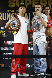 CARSON, CA - SEPTEMBER 7  Roman Gonzalez (46-1-0, 38 KO's), of Managua, Nicaragua and Srisaket Sor Rungvisai (43-4-1, 39 KO's), of Si Sa Ket, Thailand attend the final press conference at the The Doubletree by Hilton for the upcoming WBC Super Flyweight Championship Srisaket Sor Rungvisai vs Roman Gonzalez 2 Saturday Night at The StubHub Center in Carson, California. 2017 September 7.  Byline, credit, TV usage, web usage or link back must read SILVEXPHOTO.COM. Failure to byline correctly will incur double the agreed fee. Tel: +1 714 504 6870.