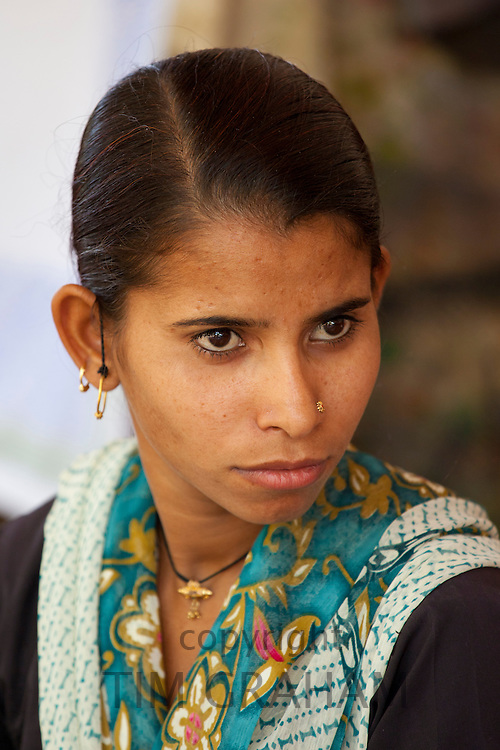 Indian woman at Dastkar women's craft co-operative, the Ranthambore Artisan Project, in Rajasthan, Northern India