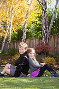 The Baill family poses for their portrait at their private residence in Los Altos, California, on November 27, 2015. (Stan Olszewski/SOSKIphoto)