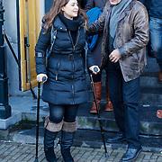 NLD/Amsterdam/20121208 - Herdenkingsdienst voor de verleden Jeroen Willems, Esmee de la Bretonirre