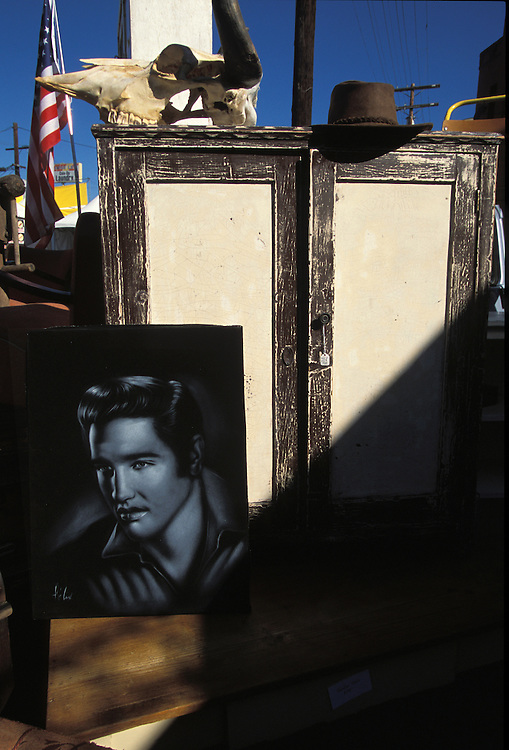 Items for sale outside a store in the Silver Lake area of Los Angeles, October, 2002