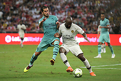 2018?7?28?.??????——?????????????????????????..7?28????????Henrikh Mkhitaryan?7??????????????Lassana Diarra?19??????????????????????????.???? ??????..Arsenal player Henrikh Mkhitaryan (No 10, L) and Paris Saint-Germain player Lassana Diarra (No 34, L) fights for the ball in the International Champions Cup match between Arsenal and Paris Saint-Germain held in Singapore's National Stadium on Jul 28, 2018..By Xinhua, Then Chih Wey..??????????2018?7?28? (Credit Image: © Then Chih Wey/Xinhua via ZUMA Wire)