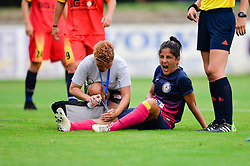 Dejana Boskan of ZNK Pomurje during the UEFA Women's Champions League Qualifying Match between ZNK Teleing Pomurje (SLO) and Olimpia Cluj (ROU) at Sportni Park on August 16, 2015 in Beltinci, Slovenia. Photo by Mario Horvat / Sportida