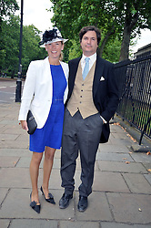 TOM & DAVINA BARBER she was Davina Duckworth-Chad, a friend of Prince William' at the wedding of Nicholas Van Cutsem to Alice Hadden-Paton at The Guards Chapel, Wellington Barracks, London on 14th August 2009.