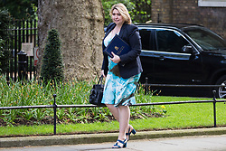 London, UK. 30th April 2019. Karen Bradley MP, Secretary of State for Northern Ireland, arrives at 10 Downing Street for a Cabinet meeting.