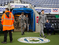Bristol City players walk around the pitch before the match - Mandatory by-line: Jack Phillips/JMP - 11/01/2020 - FOOTBALL - DW Stadium - Wigan, England - Wigan Athletic v Bristol City - English Football League Championship