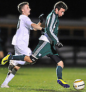 Westlake at Strongsville boys varsity soccer on October 27, 2012. Images © David Richard and may not be copied, posted, published or printed without permission.
