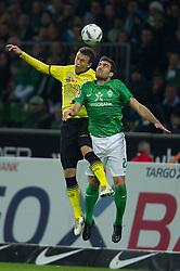 14.10.2011, Weser Stadion, Bremen, GER, 1.FBL, Werder Bremen vs Borussia Dortmund, im Bild.Ivan Perisic (Dortmund #14) vs Sokratis (Bremen #22).// during the Match GER, 1.FBL, Werder Bremen vs Borussia Dortmund on 2011/10/14,  Weser Stadion, Bremen, Germany..EXPA Pictures © 2011, PhotoCredit: EXPA/ nph/  Kokenge       ****** out of GER / CRO  / BEL ******