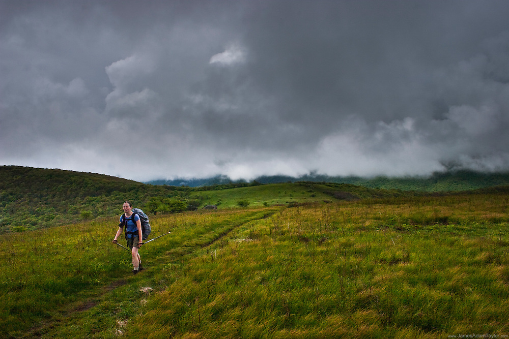 Thru-Hiker Thimble in the Roan Highlands.
