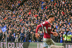 March 10, 2019 - Birmingham, England, United Kingdom - Birmingham City fans watch on as Jack Grealish of Aston Villa scores his teams winning goal during the Sky Bet Championship match between Birmingham City and Aston Villa at St Andrews, Birmingham on Sunday 10th March 2019. (Credit Image: © Mi News/NurPhoto via ZUMA Press)