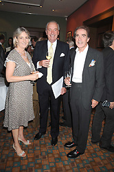 Lef to right, COUNTESS ALEXANDER OF TUNIS, JOHN CHALK and EARL ALEXANDER OF TUNIS at a private view of work by Sacha Newley entitled 'Blessed Curse' in association with the Catto Gallery held at the Arts Club, Dover Street, London W1 on 2nd July 2008.<br />