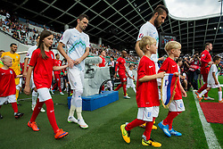 Milivoje Novakovic of Slovenia, Bostjan Cesar of Slovenia  and Wayne Rooney of England coming to court during the EURO 2016 Qualifier Group E match between Slovenia and England at SRC Stozice on June 14, 2015 in Ljubljana, Slovenia. Photo by Vid Ponikvar / Sportida