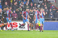 Josh Morris of Scunthorpe United (11) reacts to a missed chance during the EFL Sky Bet League 1 match between Scunthorpe United and Bradford City at Glanford Park, Scunthorpe, England on 27 April 2019.