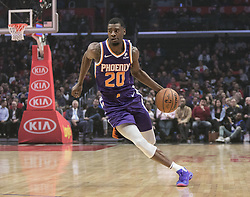 November 28, 2018 - Los Angeles, California, U.S - Josh Jackson #20 of the Phoenix Suns with the ball during their NBA game with the Los Angeles Clippers  on Wednesday November 28, 2018 at the Staples Center in Los Angeles, California. Clippers vs Suns. (Credit Image: © Prensa Internacional via ZUMA Wire)