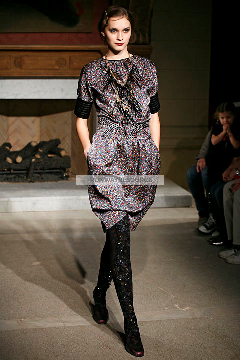 Elcee Orlova wearing the Cynthia Rowley Fall 2009 Collection.