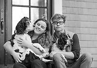 Grace Bradley with family and girlfriends. ©2017 Karen Bobotas Photographer
