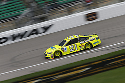 October 19, 2018 - Kansas City, Kansas, United States of America - Paul Menard (21) hangs out in the garage during practice for the Hollywood Casino 400 at Kansas Speedway in Kansas City, Kansas. (Credit Image: © Justin R. Noe Asp Inc/ASP via ZUMA Wire)