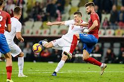 November 15, 2018 - Gdansk, Poland, ROBERT LEWANDOWSKI from Poland (L) and ONDREJ CELUSTKA from Czech Republic (R) during football friendly match between Poland - Czech Republic at the Stadion Energa in Gdansk, Poland