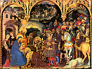 Gentile di Niccolò di Giovanni Massi, called Gentile da Fabriano (1370 - 1427) Adoration of the Magi (1423), Galerie of the Offices, Florence