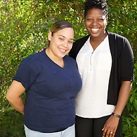Supportive Housing program case worker, Melissa (in white shirt) with her client Irma. Melissa has provided support to Irma for over two years. <br /> <br /> Irma, age 24, left home at the age of nine after she and her brother suffered abuse at the hands of their step father. After several years in the care of foster homes and living homeless, Irma became pregnant at age 15. By the age of 23, Irma had lived through periods of homelessness and had become mother to four children with two different men, both of whom were abusive. Six months into her fourth pregnancy, Irma's partner threw her down the stairs and she went into premature labour. Medical staff told Irma that she would miscarry but her youngest son, Julio survived after spending the first six months of his life in hospital. The sustained involvement of medical professionals in Irma's life alerted the Supportive Housing program to her situation. Case worker Melissa began working with Irma, offering support, advice and providing the funds to purchase items for the care of baby Julio. Melissa made representations to the Department of Children and Families (DCF) to vouch for Irma's character and convince them that Irma should not be separated from her children. Melissa encouraged Irma to go back to school and complete her high school diploma. <br /> <br /> Supportive Housing  provided Irma a housing-voucher so that she could keep her children and live independently of her abusive partner. Irma now lives with her children who have rooms of their own and a back yard in which to play. Julio, now eighteen months, has significant health needs but the relative stability of Irma's life now means she can look to the future with a sense of optimism. She hopes to complete her associates degree in nursing and eventually earn an income that will allow her to live in accommodation without the need of a subsidy from Supportive Housing. Irma still meets regularly with Melissa who continues to provide her support, in
