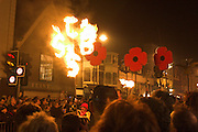 Bonfire Society Standard, Bonfire Parade in Lewes ..5/11/05