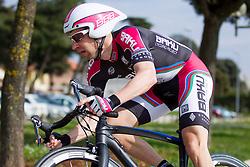 Matej Mugerli of BAKU Cycling during prologue (2km) of 13th Istrian Spring Trophy cycling race on March 10, 2016 in Umag, Croatia. Photo by Urban Urbanc / Sportida