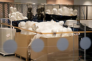 The day after the government introduced a third Coronavirus pandemic national lockdown, effectively a Tier 5 restriction, non-essential retailers remain closed, their mannequins stacked during a refurbishment, as the capital experiences a grim post-Christmas and millions of Britons are told to stay at home, on 5th January 2021, in London, England.