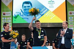 Vasilij Zbogar during reception of Slovenian Olympic Team at Vila Podroznik when they came back from Rio de Janeiro after Summer Olympic games 2016, on August 26, 2016 in Ljubljana, Slovenia. Photo by Matic Klansek Velej / Sportida