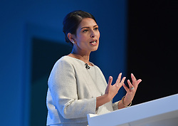 Home Secretary Priti Patel delivers her keynote seech at the Conservative Party conference in Manchester.<br /> <br /> © Dave Johnston / EEm