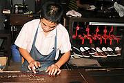 China, Zhejiang Province, Wuzhen traditional Shoemaker