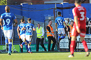 GOAL Joe THOMPSON SCORES celebrates scoring 1-0  during the EFL Sky Bet League 1 match between Rochdale and Charlton Athletic at Spotland, Rochdale, England on 5 May 2018. Picture by Daniel Youngs.