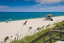 lifeguard huts at Juno Beach, one of the most productive sea turtle nesting sites in the world, Florida, Atlantic Ocean