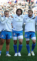 Rome, Italy -In the photo Zanni ,Bergamasco Mauro,Bergamasco Mirco during .Olympic stadium in Rome Rugby test match Cariparma.Italy vs New Zealand (All Blacks). (Credit Image: © Gilberto Carbonari).