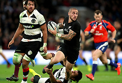 New Zealand's TJ Perenara in action during the Autumn International match at Twickenham, London.