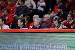 11 February 2017:  Dave Colee during a College MVC (Missouri Valley conference) mens basketball game between the Bradley Braves and Illinois State Redbirds in  Redbird Arena, Normal IL