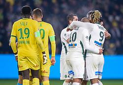 January 30, 2019 - Nantes, France - But de CABELLA Remy ( Saint Etienne ) - Joie des joueurs de l equipe Saint Etienne (Credit Image: © Panoramic via ZUMA Press)