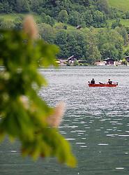 THEMENBILD - Fischer in ihrem Boot auf dem Zell See, aufgenommen am 10. Mai 2018, Zell am See, Österreich // Fisherman in her boat on the Zell lake on 2018/05/10, Zell am See, Austria. EXPA Pictures © 2018, PhotoCredit: EXPA/ Stefanie Oberhauser
