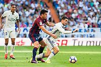 Real Madrid's player Mateo Kovacic and Eibar FC's player Ander Capa during a match of La Liga Santander at Santiago Bernabeu Stadium in Madrid. October 02, Spain. 2016. (ALTERPHOTOS/BorjaB.Hojas)