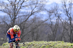 March 7, 2018 - Saint Etienne, France - SAINT-ETIENNE, FRANCE - MARCH 7 : IZAGIRRE INSAUSTI Gorka  (ESP)  of Bahrain - Merida in action during stage 4 of the 2018 Paris - Nice cycling race, an individual time trial over 18,4 km from La Fouillouse to Saint-Etienne on March 07, 2018 in Saint-Etienne, France, 7/03/2018 (Credit Image: © Panoramic via ZUMA Press)