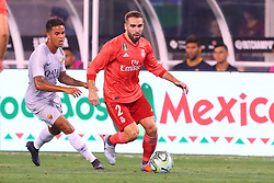 August 7, 2018 - East Rutherford, NJ, U.S. - EAST RUTHERFORD, NJ - AUGUST 07:  Real Madrid defender Daniel Carvajal (2) during the second half of the International Champions Cup game between Real Madrid and AS Roma on August 7, 2018, at Met Life Stadium in East Rutherford, NJ.  (Photo by Rich Graessle/Icon Sportswire) (Credit Image: © Rich Graessle/Icon SMI via ZUMA Press)