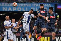 Gol David Lopez Napoli Goal celebration <br /> Napoli 07-05-2015 Stadio San Paolo, Football Calcio Europa League 2014/2015 Semi Final Napoli Dnipro Foto Andrea Staccioli / Insidefoto