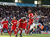 Photo: Mark Stephenson/Richard Lane Photography. <br /> West Bromwich Albion v Watford. Coca-Cola Championship. 12/04/2008. West Brom's Zoltan Gera heads at goal
