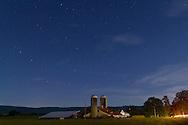 Pine Bush, New York - Starry skies over a farm on Sept. 12, 2014.