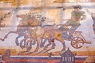 Circus Maximus - Ancient Roman mosaics at the Villa Romana del Casale, Sicily, Italy Pictures, Photos, Images & fotos