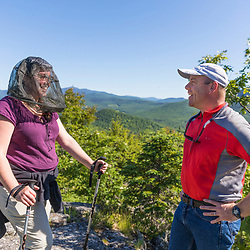 J.T. Horn with Trisha Beringer (Upper Saco Valley Land Trust) during an outing in the Dundee Forest project in Jackson, New Hampshire.